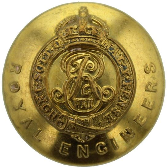Royal Engineers EDWARDIAN Royal Engineers Corps (Edward VII) Tunic Button - 25mm