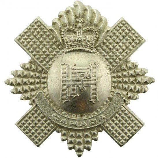 Canadian Highland Fusiliers of Canada Regiment Glengarry Cap Badge - Queens Crown
