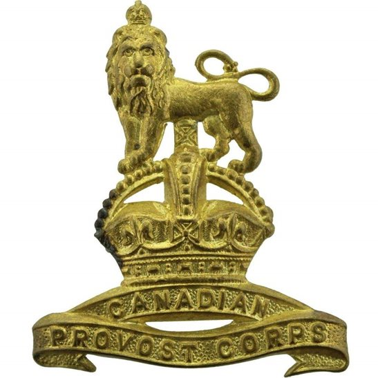 WW2 Canadian Army WW2 Canadian Provost Corps Canada Cap Badge