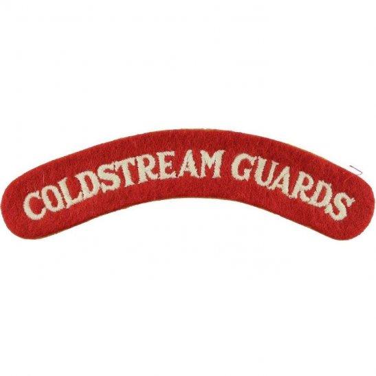 Coldstream Guards 1950s National Service Coldstream Guards Regiment Cloth Shoulder Title Badge Flash