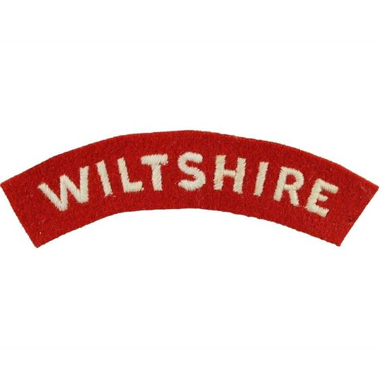 Wiltshire Regiment 1950s National Service Wiltshire Regiment Cloth Shoulder Title Badge Flash