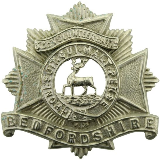 Bedfordshire Regiment WW1 Bedfordshire Regiment 3rd VOLUNTEER Battalion Cap Badge