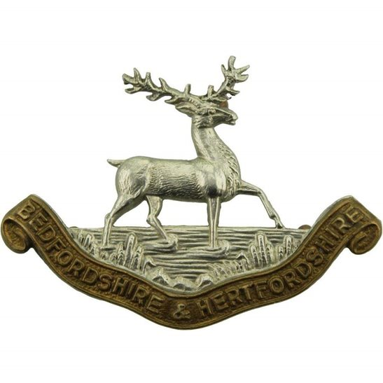 Bedfordshire and Hertfordshire Bedfordshire and Hertfordshire Regiment Collar Badge