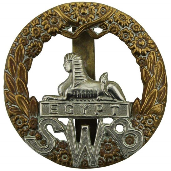 South Wales Borderers WW1 South Wales Borderers SWB Regiment Cap Badge