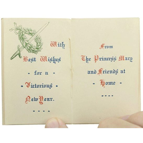 additional image for Princess Mary 1914 Christmas Tin Contents - 1915 New Years Card