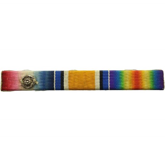 WW1 Trio (1914 Mons Star, British War and Victory Medal) Ribbon Bar - PIN BACK