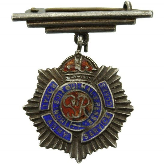 Royal Army Service Corps RASC WW2 Royal Army Service Corps RASC Sweetheart Brooch - STERLING SILVER