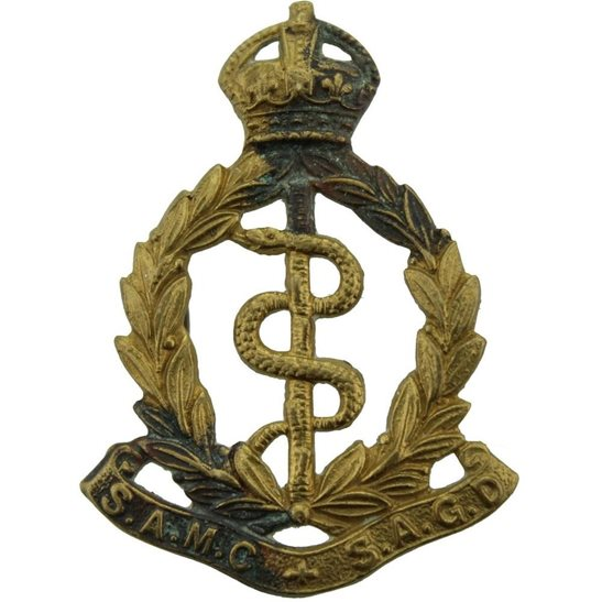 South African Army WW2 South African Army Medical Corps SAMC Africa Cap Badge