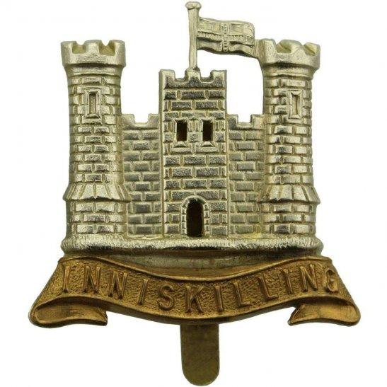6th Inniskilling Dragoons WW1 6th Inniskilling Dragoons Irish Regiment Cap Badge - H.G&S Makers Mark