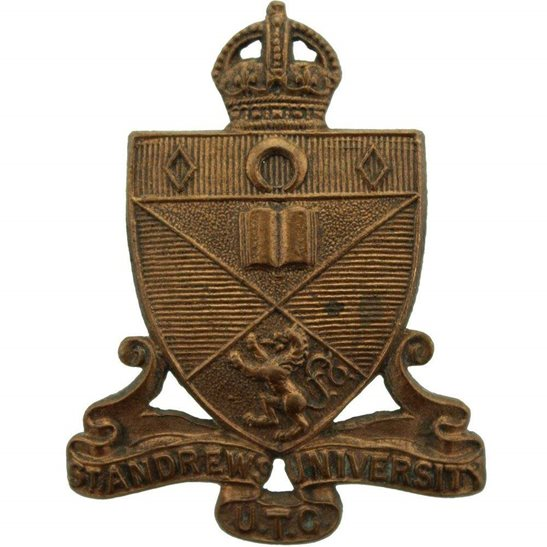 Officer Training Corps OTC St Andrews University College Officers Training Corps OTC Cap Badge