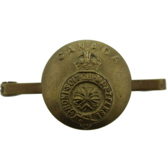 Canadian Army Corps Canada TRENCH-MADE Button CEF Sweetheart Brooch Badge