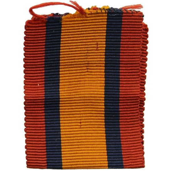 Boer War Spare Queens South Africa QSA Medal SILK Ribbon - 3 Inches