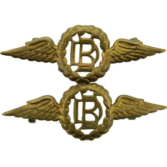 Royal Air Force RAF WW2 Royal Air Force Dental Branch RAF Dentist Corps Collar Badge PAIR