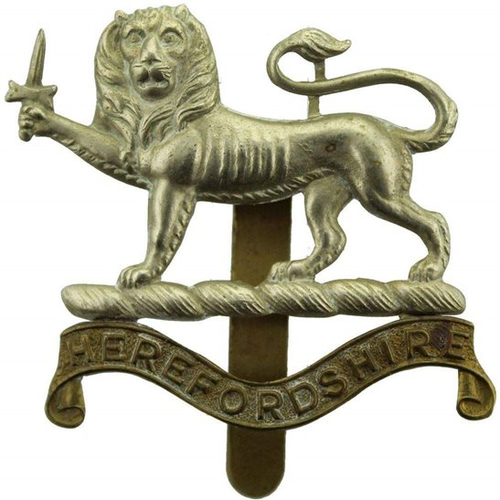 Herefordshire Light Infantry WW1 Herefordshire Light Infantry Regiment Cap Badge - FIRST PATTERN