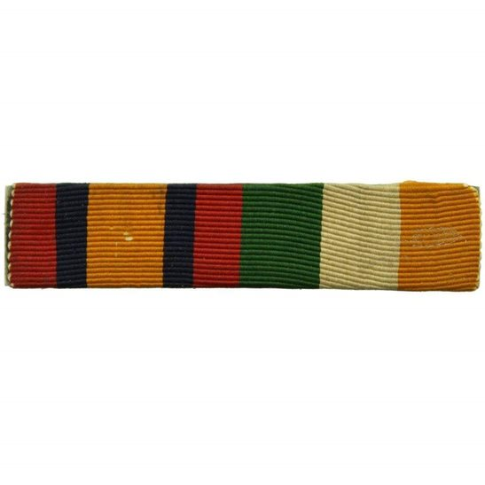 Boer War Queens & Kings South Africa KSA QSA Medal Ribbon Bar - PIN BACK STYLE