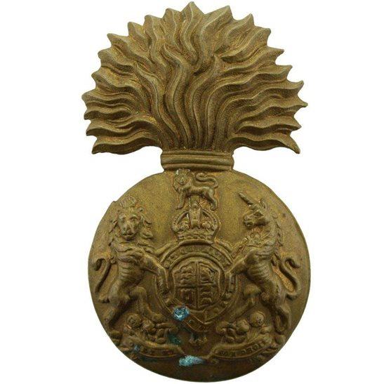 Royal Scots Fusiliers WW1 Royal Scots Fusiliers (Scottish) Regiment Cap Badge