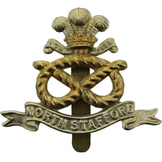 North Staffordshire WW2 North Staffordshire (Stafford) Regiment Cap Badge