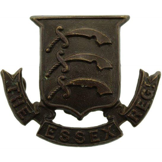 Essex Regiment The Essex Regiment OFFICERS Bronze Collar Badge