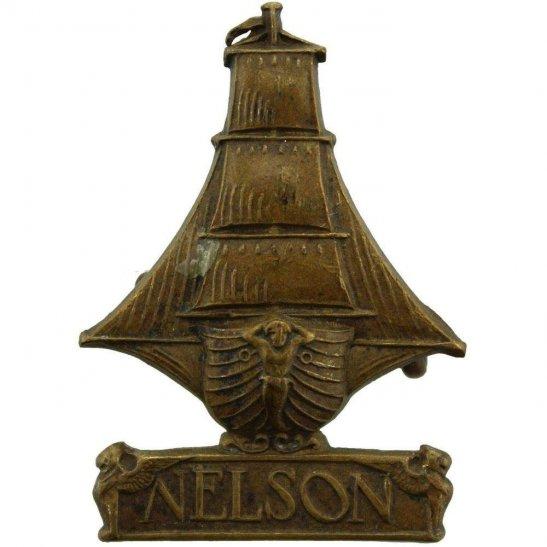 Royal Naval Division WW1 Royal Naval Division RND NELSON Battalion Navy Cap Badge