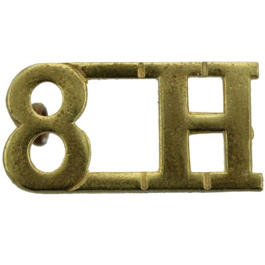 8th Hussars 8th Kings Royal Irish Hussars Regiment Shoulder Title