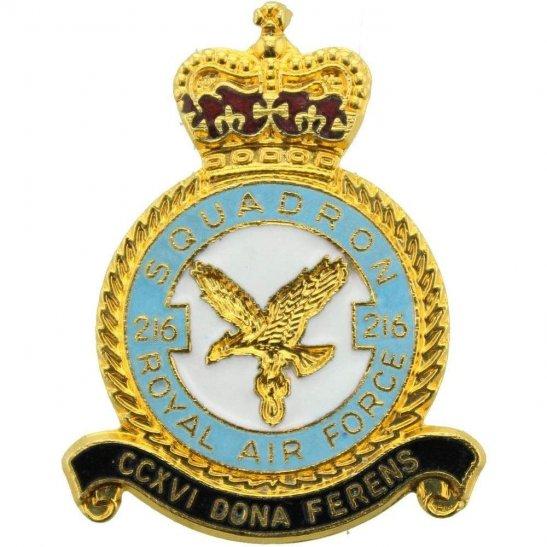RAF Squadrons 216 Squadron Royal Air Force RAF Lapel Badge