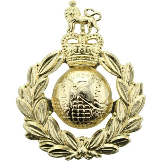 Royal Marines Royal Marines Corps Staybrite Anodised Cap Badge - Staybright