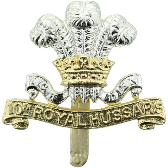 10th Royal Hussars 10th Royal Hussars Regiment Staybrite Anodised Cap Badge - Staybright