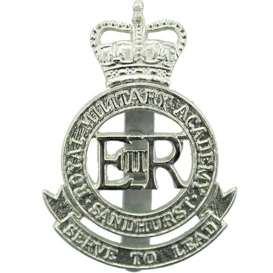 Sandhurst Royal Military Academy Staybrite Anodised Cap Badge - Staybright