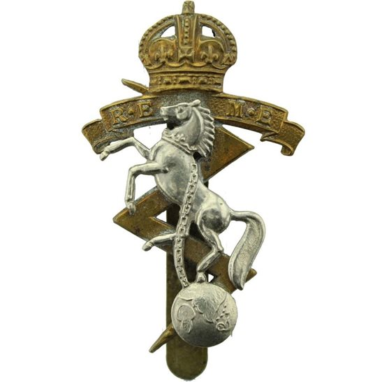 Royal Electrical & Mechanical Engineers REME WW2 Royal Electrical & Mechanical Engineers REME Cap Badge - BUTTONS LD B'HAM