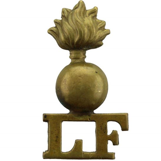 Lancashire Fusiliers WW1 Lancashire Fusiliers Regiment Shoulder Title - SINGLE CONSTRUCTION
