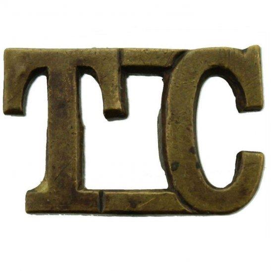 Royal Tank Corps WW1 Tank Corps TC Shoulder Title - EARLY PATTERN