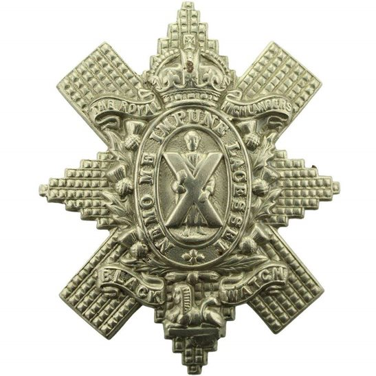 Black Watch WW1 Royal Highland (Black Watch) Regiment Cap Badge - FIRST PATTERN