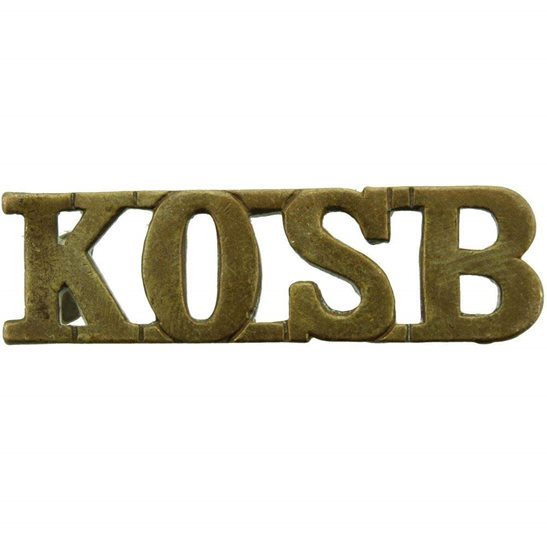 Kings Own Scottish Borderers Kings Own Scottish Borderers Regiment KOSB King's Shoulder Title