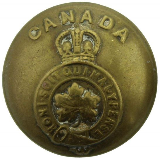 WW1 Canadian Army WW2 Canadian Army Forces Canada Division Corps - 26mm