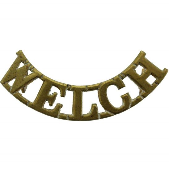 Welch Regiment WW2 Welch (Welsh) Regiment Shoulder Title