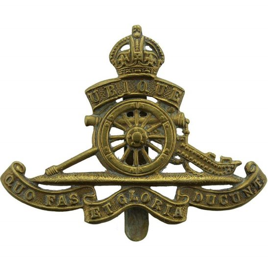 Royal Artillery WW1 Royal Artillery Regiment Cap Badge