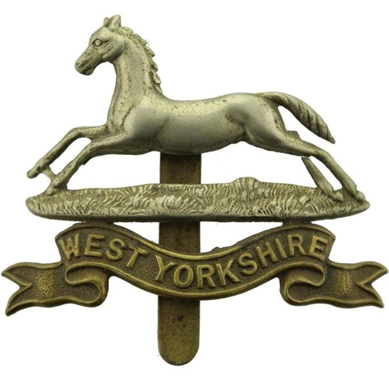West Yorkshire WW1 West Yorkshire Regiment Cap Badge
