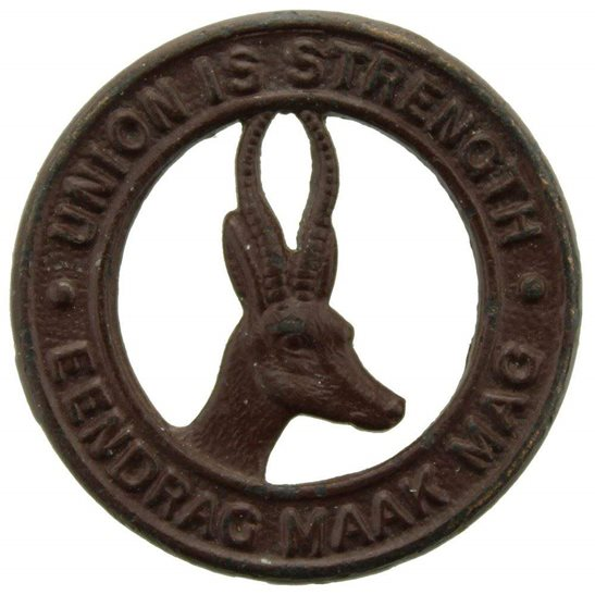 South African Army South African Infantry Forces Division / Africa Corps Collar Badge