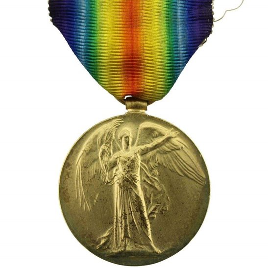 WW1 ERASED Blank Spare Gap-Filler Victory Medal