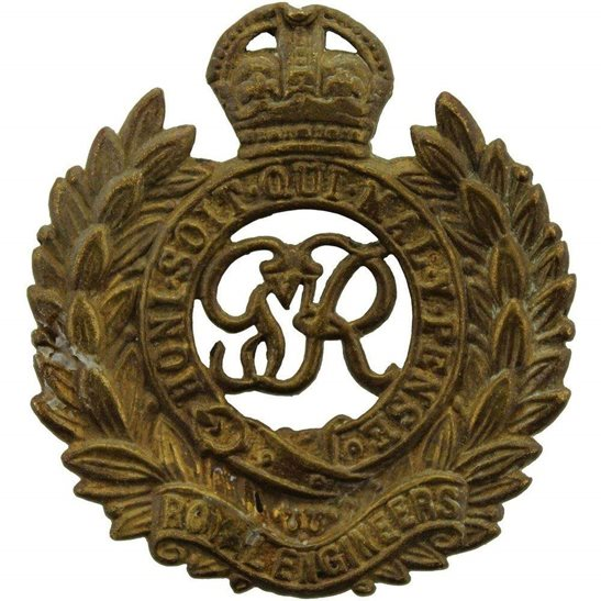 Royal Engineers UK Dug Detecting Find - WW2 Royal Engineers Corps Relic Cap Badge