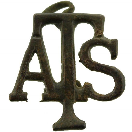 Auxiliary Territorial Service ATS UK Dug Detecting Find - WW2 Auxiliary Territorial Service ATS Relic Shoulder Title