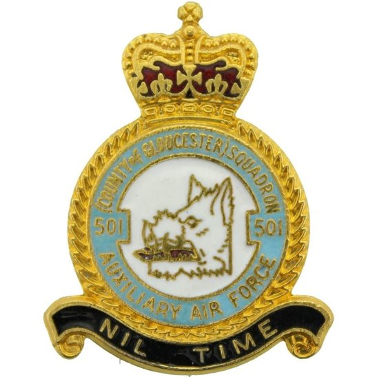RAF Squadrons 501 Squadron Royal Air Force RAF Lapel Badge