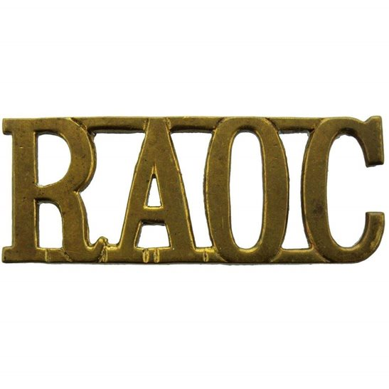 Royal Army Ordnance Corps WW2 Royal Army Ordnance Corps RAOC Shoulder Title