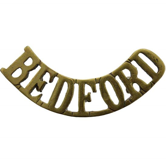 Bedfordshire Regiment WW1 Bedfordshire Regiment Shoulder Title