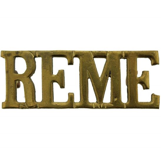 Royal Electrical & Mechanical Engineers REME WW2 Royal Electrical & Mechanical Engineers REME Shoulder Title
