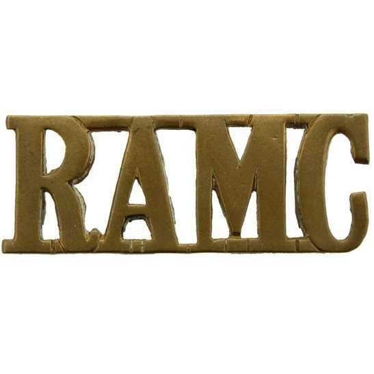 Royal Army Medical Corps RAMC WW1 Royal Army Medical Corps RAMC Shoulder Title