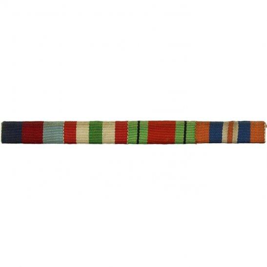 WW2 Medal Ribbon Bar - 1939-45 Star, Italy, Defence & War - PIN BACK