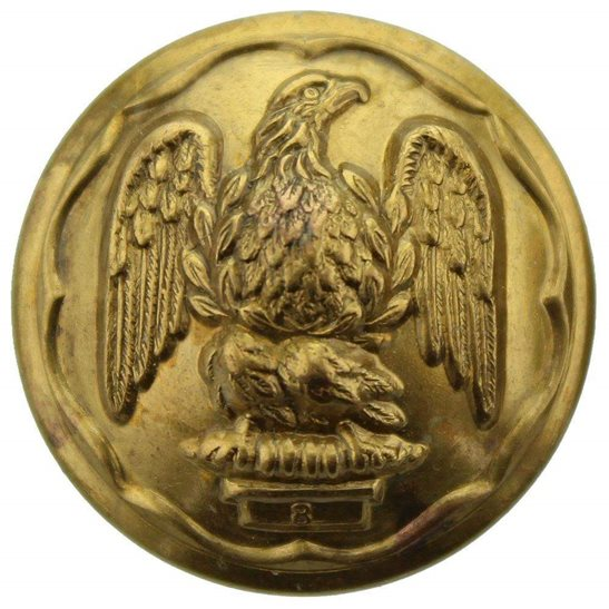 Royal Irish Fusiliers WW1 Royal Irish Fusiliers Regiment Tunic Button - 26mm