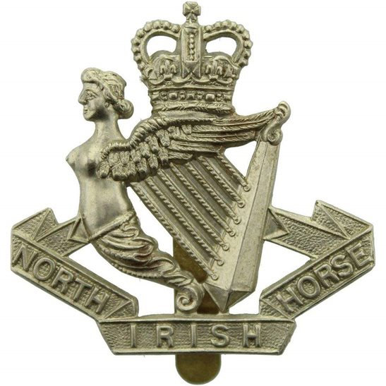 North Irish Horse North Irish Horse Regiment Cap Badge - Queens Crown