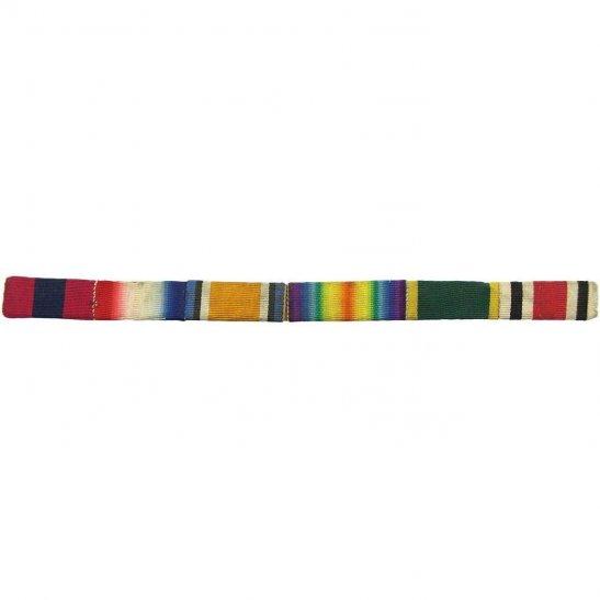 WW1 Distinguished Conduct Field, 1914/15 Star British War & Victory Medal Trio Ribbon Bar - SEW ON